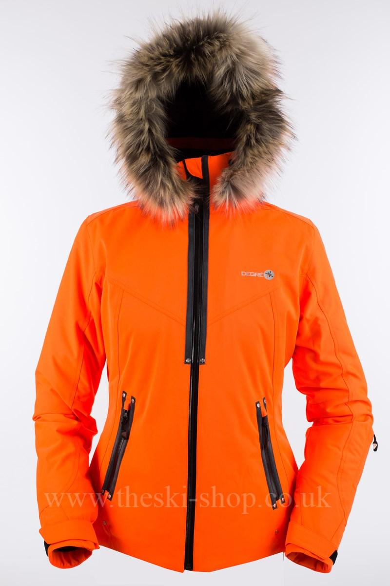 828d03b6bdf Degre 7 Geod Faux Fur Womens Ski Jacket in Orange - The Ski Shop £349.00