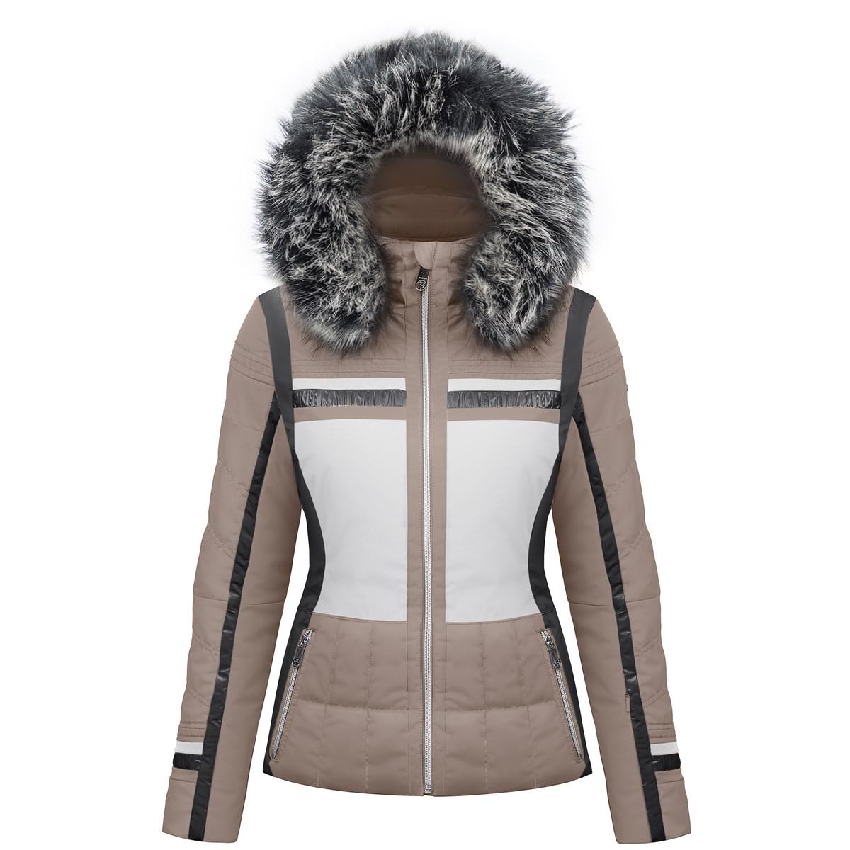 9107289b32 Poivre Blanc Avril Womens Ski Jacket In Dove Brown The Ski Shop £315.00