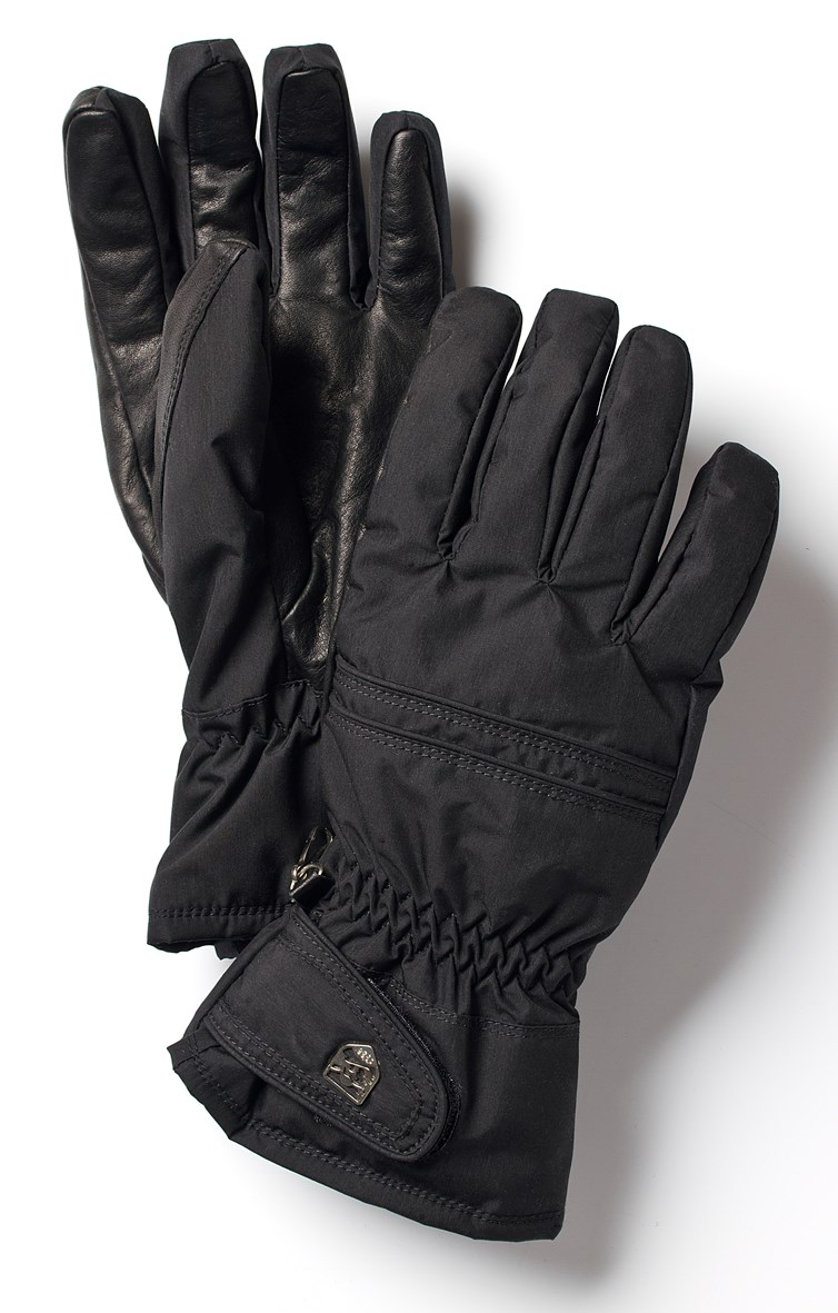 Womens leather ski gloves - Hestra Primaloft Leather Womens Ski Gloves In Black The Ski Shop 50 00