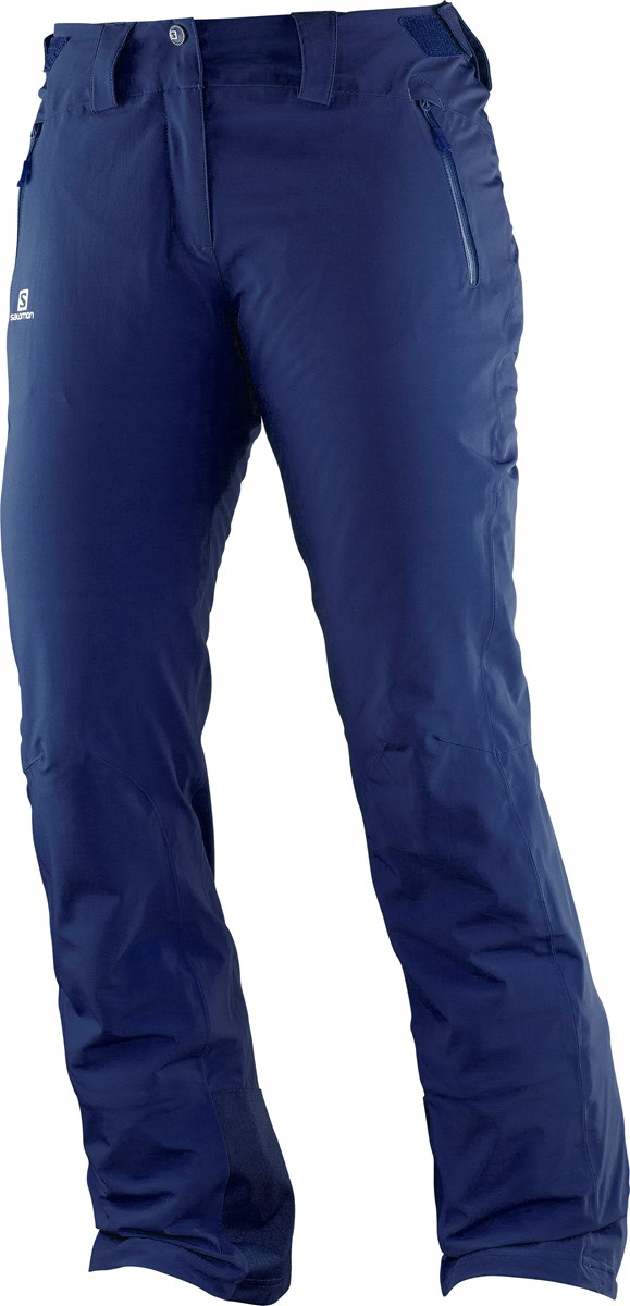 c2a14ba4404fd Salomon Iceglory Womens Ski Pants in Wysteria Navy £170.00
