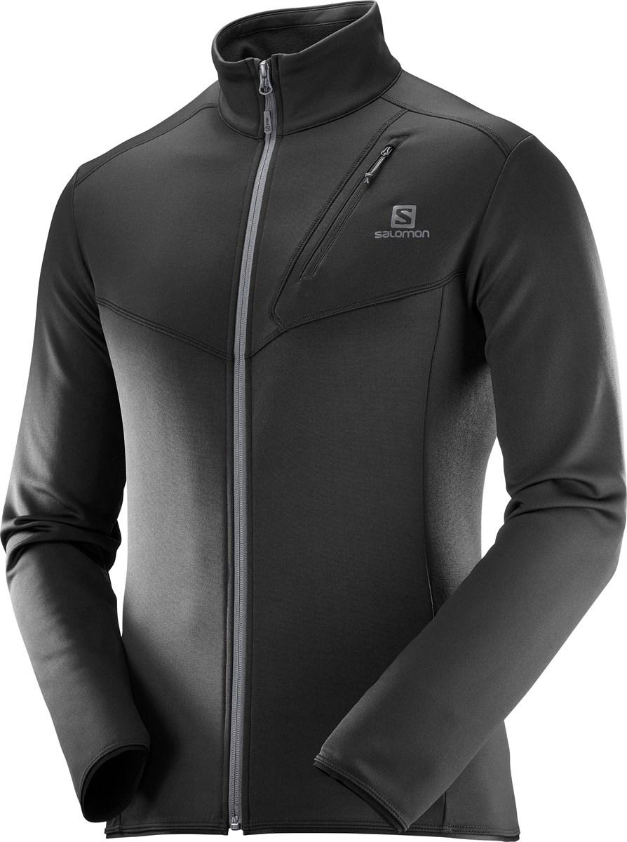 6f828495ca0 Salomon Discovery FZ Full Zip Mens Layer in Black - The Ski Shop £80.00