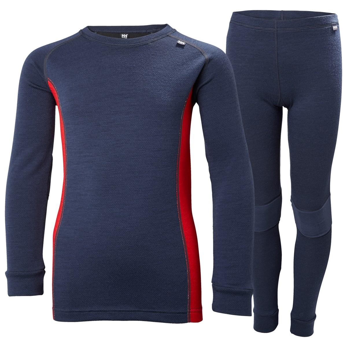 0a41f35ca1 Helly Hansen Kids Lifa Merino Thermal Vest and Leggings Set Blue £60.00