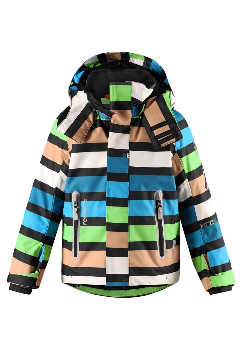 41f49ea817b0 Reima Regor Kids Ski Jacket in Black Blue Green - The Ski Shop £90.00