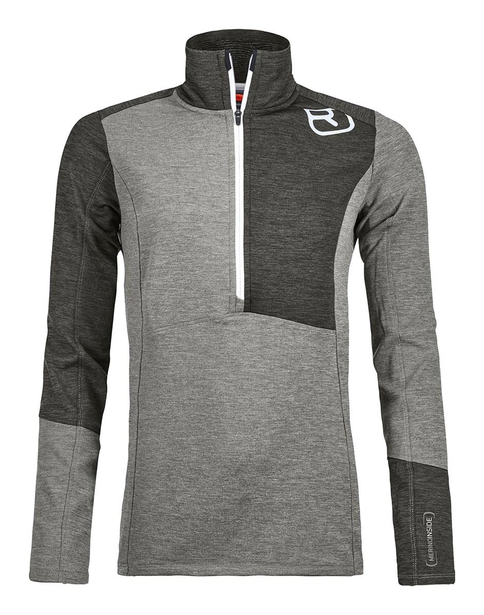 8be49644b99dd Ortovox Fleece Light Womens Zip Neck in Grey Blend - The Ski Shop £96.00