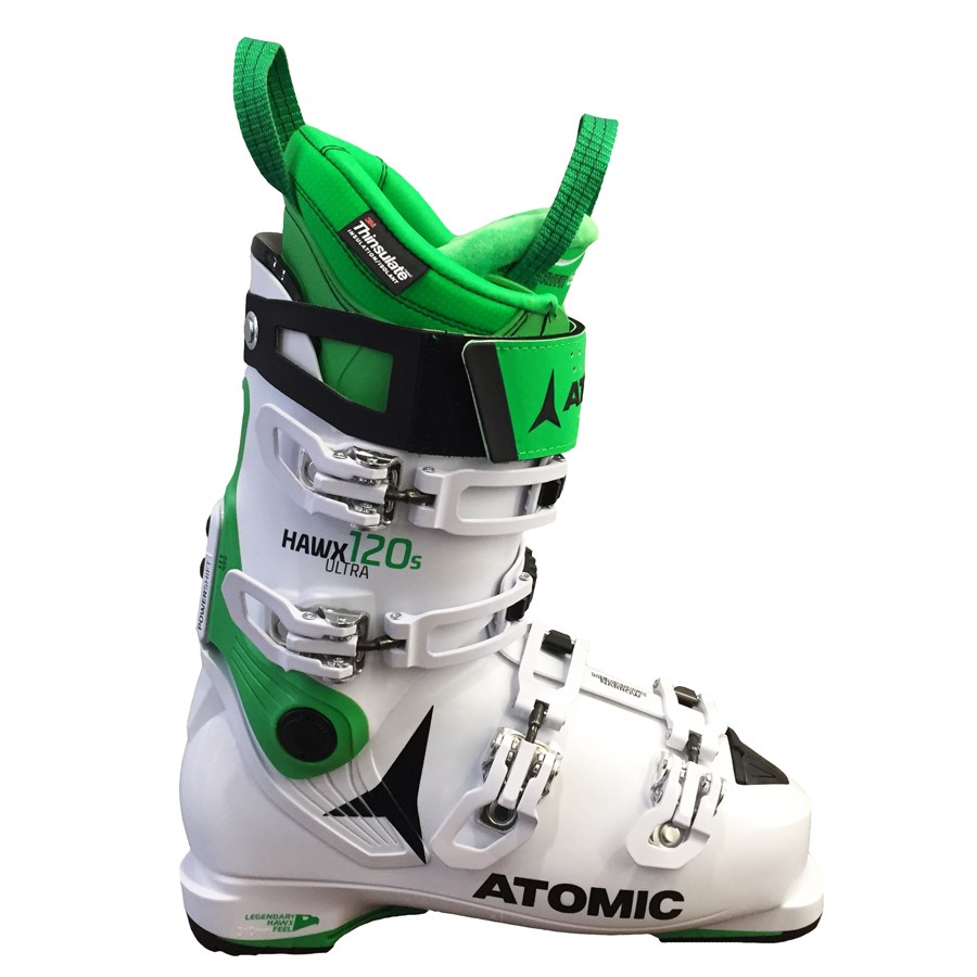 buy online efbf0 48623 Atomic Hawx Ultra 120S Mens Ski Boots in White Green