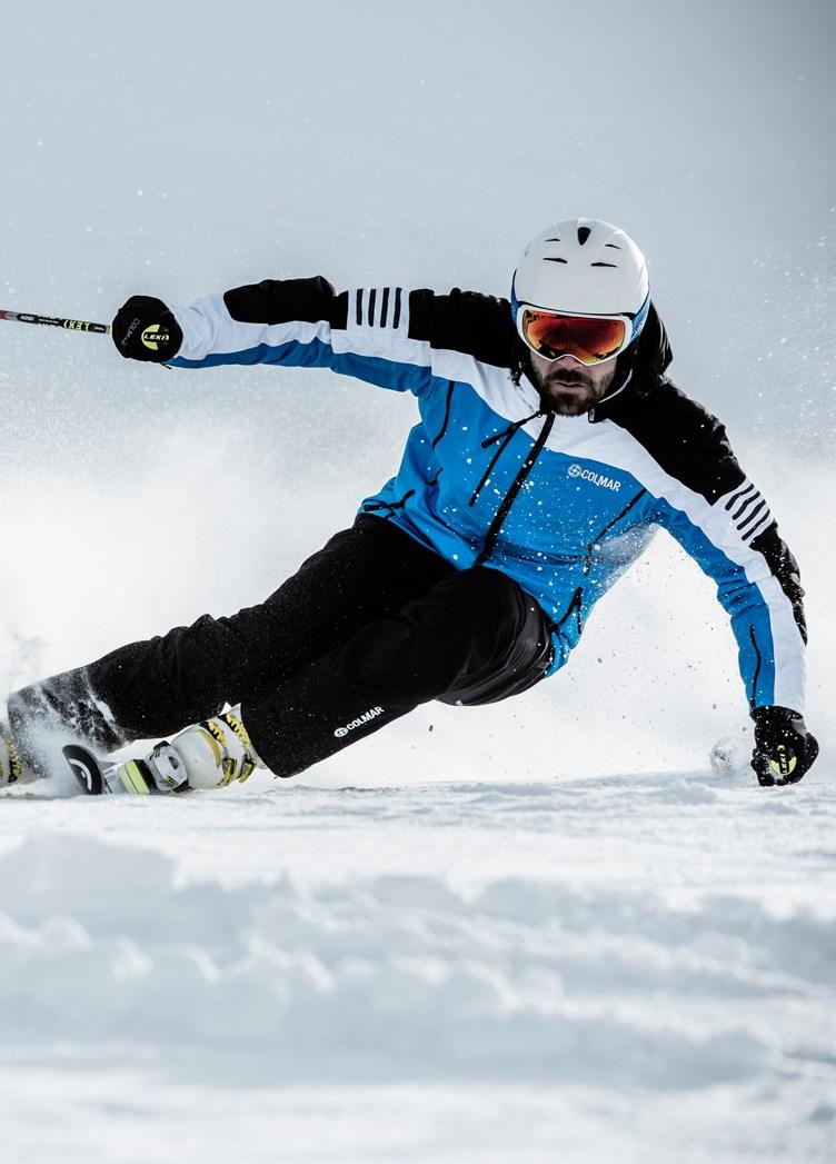 Colmar shaw mens ski jacket in blue white the ski shop for Blue piscine colmar