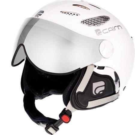 Cairn Cosmos Visor Ski Helmet in White with 2 Visors ...