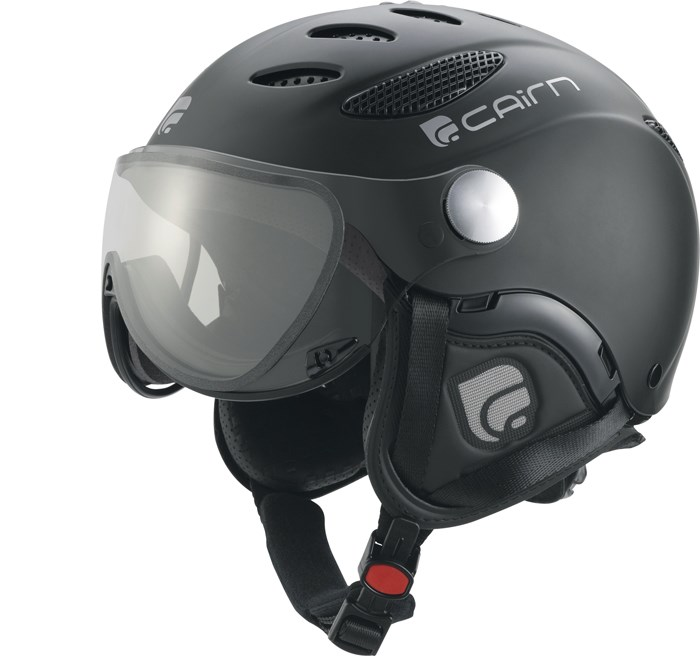 Cairn Cosmos Ski Helmet Black With Chromax Light Changing