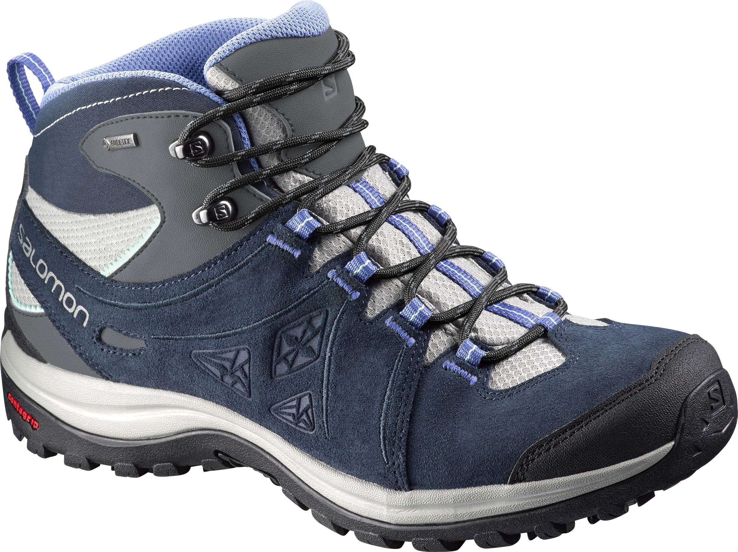 size 40 b43d9 370c4 Salomon Ellipse 2 LTR Gore-Tex Womens Mid Walking Boots in Blue