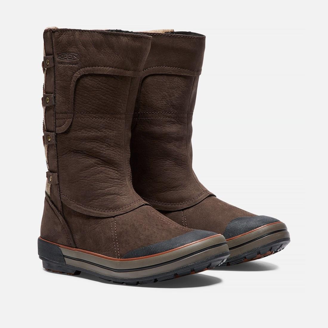 dc9017b58d9c6 Keen Elsa Premium Zip Waterproof Womens Boots in Espresso Brown £112.00