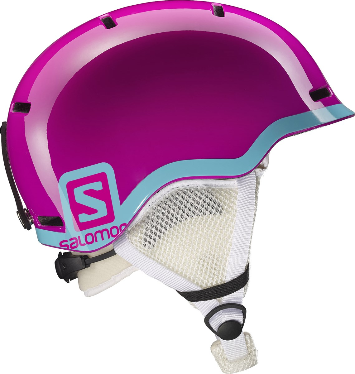 28f2c78fa20d Salomon Grom Junior Ski Helmet in Fushia Blue - The Ski Shop £45.00