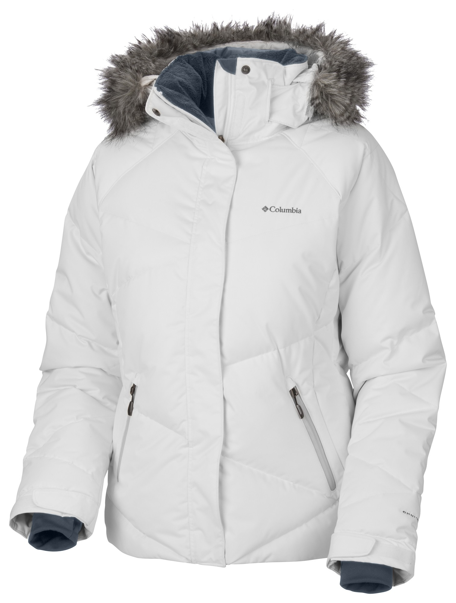 Columbia Lay D Down Womens Jacket in White Satin £199.00 52ee5ca77a