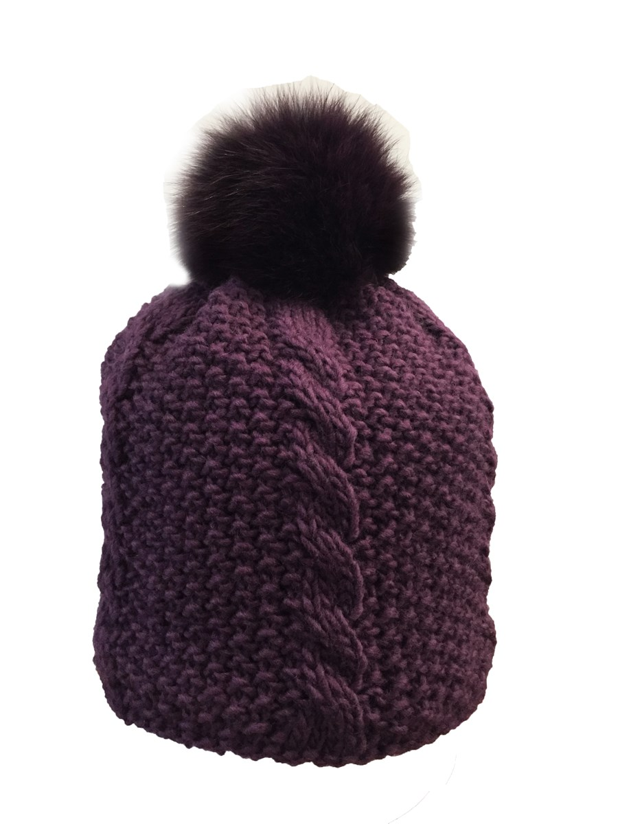 db1b5c3c Manbi Foxy Fox Pom Hat In Purple The Ski Shop £44.96