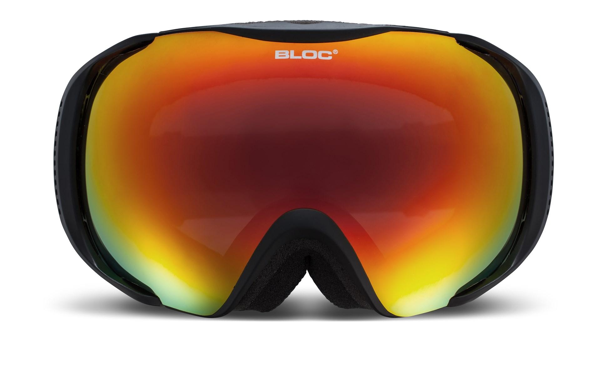 cf354dfdce98 Bloc Mask Ski Goggles Matt Black with Revo Red Mirror Lens £45.00