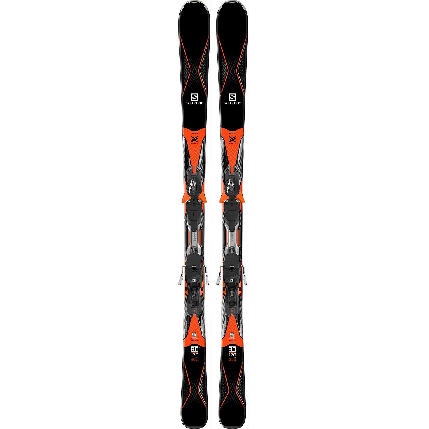 official store factory outlet nice cheap Salomon X Drive 8.0 Ti Mens 2017 Skis With XT12 Bindings In BlkOrange